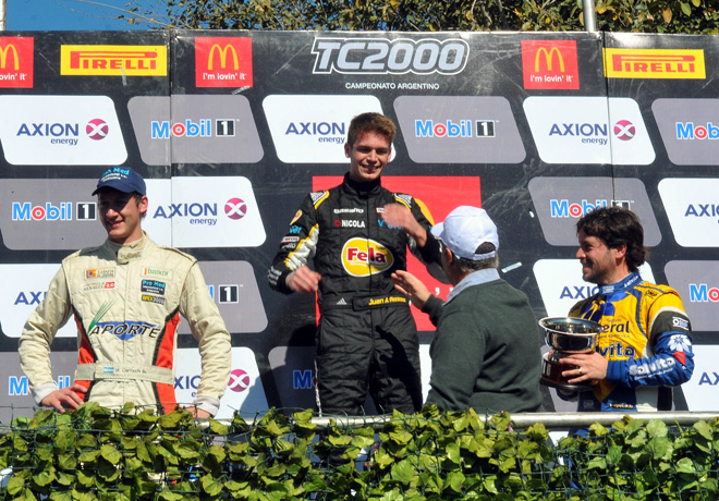 TC2000 - San Jorge 2016 - Carrera Final - Marcelo Ciarrocchi - Juan Angel Rosso - Pablo Vuyovich en el Podio