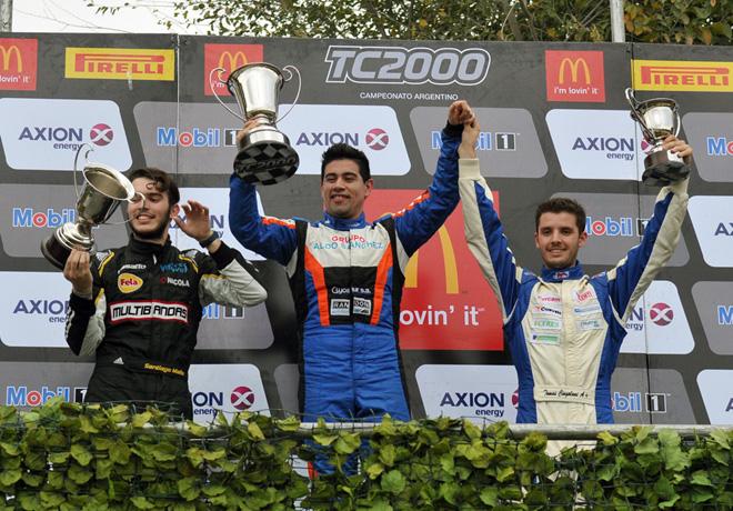 TC2000 - San Jorge 2016 - Carrera Sprint - Santiago Mallo - Emmanuel Caceres - Tomas Cingolani en el Podio