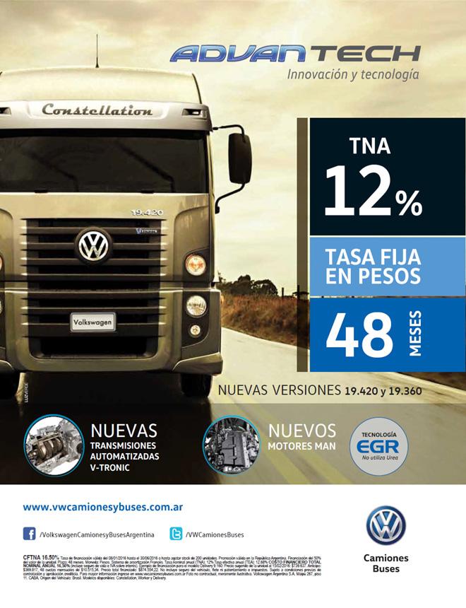 Volkswagen financia la compra de camiones al 12 por ciento - TNA
