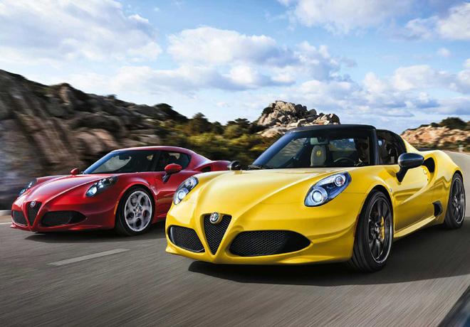 Alfa Romeo 4C Spider for rent 1