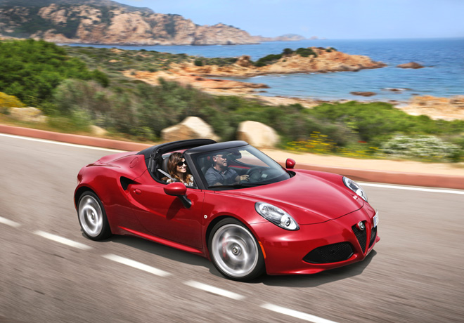 Alfa Romeo 4C Spider for rent 2