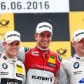 DTM - Norisring 2016 - Carrera 2 - Tom Blomqvist -  Nico Muller - Maxime Martin en el Podio