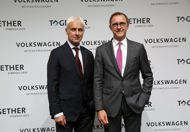 VW - TOGETHER - Estrategia 2025 - Matthias Muller - CEO de VW AG - y Thomas Sedran - responsable de la Estrategia del Grupo