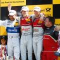 DTM - Zandvoort 2016 - Carrera 2 - Gary Paffett - Jamie Green - Edoardo Mortara en el Podio
