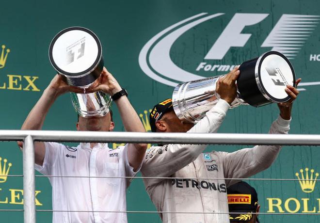 F1 - Alemania 2016 - Carrera - Lewis Hamilton en el Podio