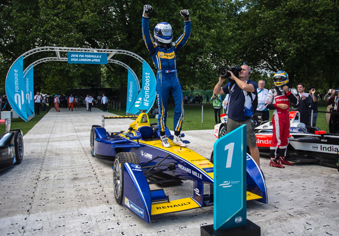 Formula E - Londres - Inglaterra 2016 - Carrera 1 - Nicolas Prost - eDams-Renault