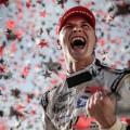 IndyCar - Iowa 2016 - Carrera - Josef Newgarden en el Podio