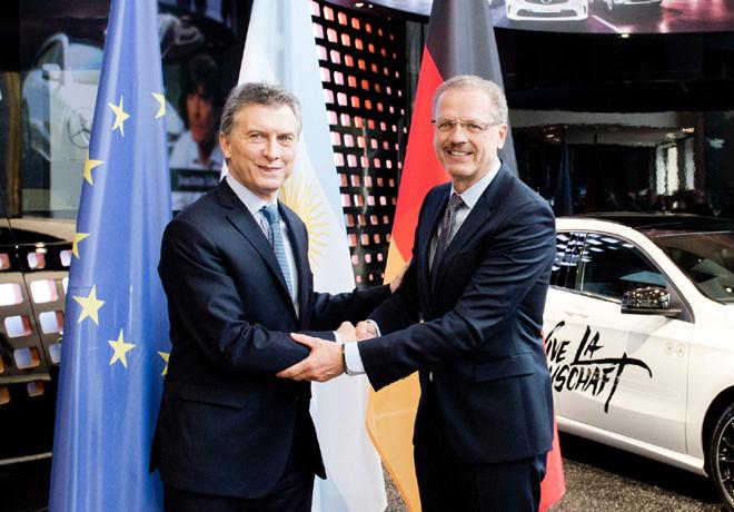Macri se reunio con representantes de Daimler y resalto la importancia de la empresa