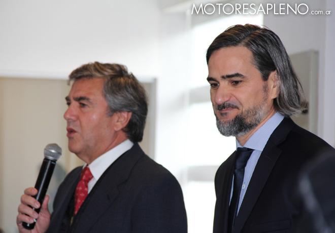 Porsche - Hugo Pulenta y Gustavo Gioia en la presentacion de los nuevos Macan y Cayenne
