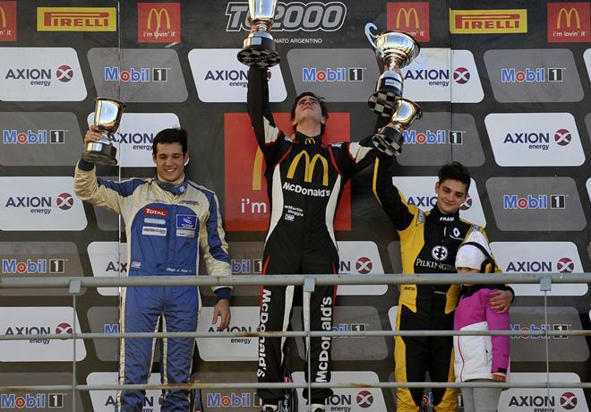 TC2000 - Concepcion del Uruguay 2016 - Carrera Sprint - Diego Azar - Martin Moggia - Manuel Luque en el Podio