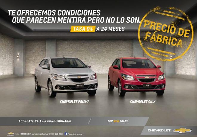 Chevrolet - Oferta - Onix y Prisma a precios de fabrica