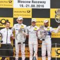 DTM - Moscu 2016 - Carrera 1 - Paul Di Resta - Robert Wickens - Gary Paffett en el Podio
