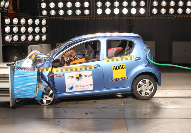 Latin NCAP - BYD F0 - sin Airbags