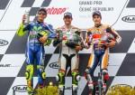 MotoGP - Brno 2016 - Valentino Rossi - Cal Crutchlow - Marc Marquez en el Podio