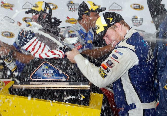 NASCAR - Pocono 2016 - Chris Buescher en el Victory Lane