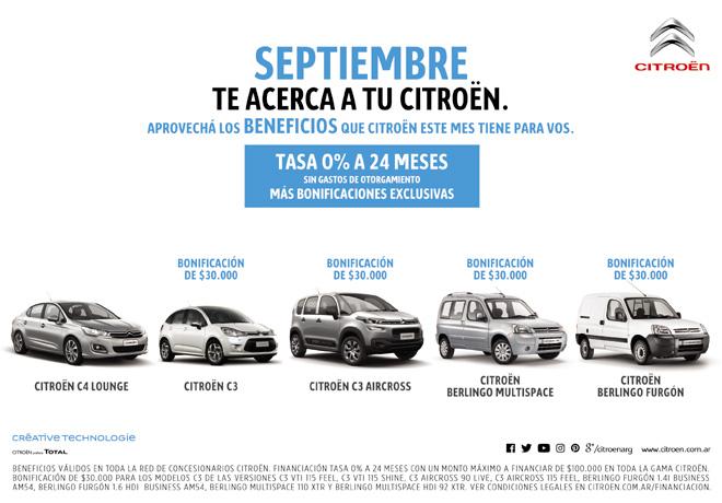 Citroen - beneficios septiembre 2016