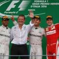 F1 - Italia 2016 - Carrera - Lewis Hamilton - Nico Rosberg - Sebastian Vettel en el Podio