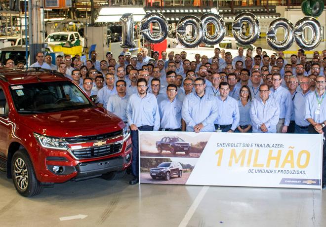 Chevrolet alcanzo el millon de unidades producidas de S10 y Trailblazer