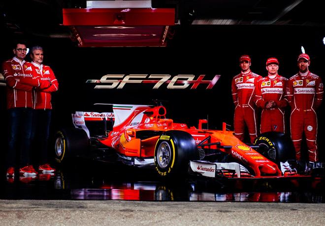 Ferrari lanzó en Fiorano su nuevo coche, el SF70H.