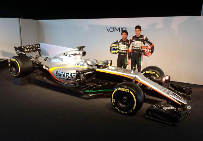 Force India mostró su nuevo VJM10 de Fórmula 1 en Silverstone.