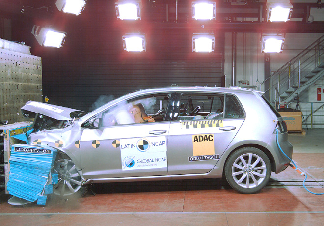Latin NCAP - VW Golf VII - con 7 Airbags