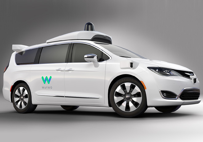 Chrysler Pacifica Hibrida de Waymo
