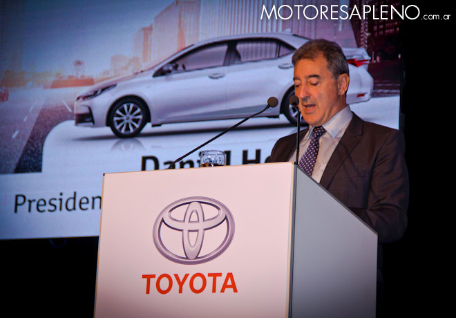 Daniel Herrero en la presentacion del Nuevo Toyota Corolla 2017