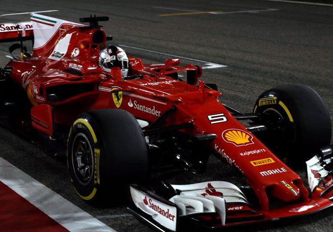 F1 - Bahrein 2017 - Carrera - Sebastian Vettel - Ferrari