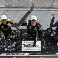 IndyCar - Birmingham 2017 - Carrera - Simon Pagenaut - Josef Newgarden - Scott Dixon en el Podio