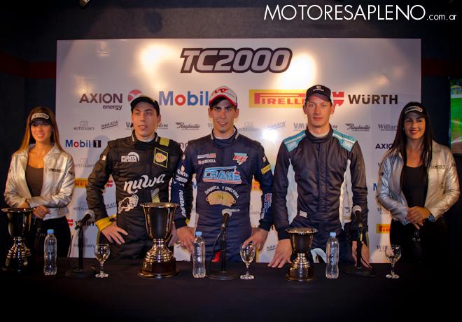 TC2000 - Buenos Aires 2017 - Carrera Sprint - Tomas Galiardi Genne - Franco Crivelli - Marcelo Ciarrocchi en la conferencia de prensa