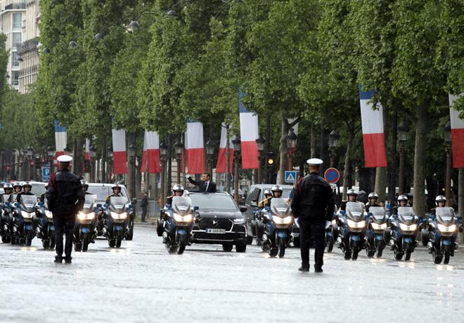DS 7 Crossback - Primera presentacion oficial para la investidura del Presidente de Francia