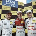 DTM - Hockenheim 2017 - Carrera 2 - Gary Paffett - Jamie Green - Marco Wittmann en el Podio