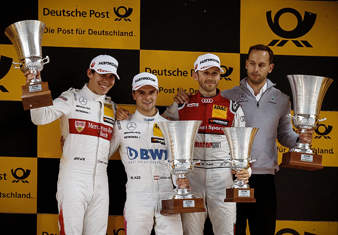 DTM - Lausitzring 2017 - Carrera 1 - Robert Wickens - Lucas Auer - Rene Rast en el Podio
