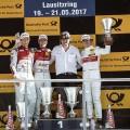 DTM - Lausitzring 2017 - Carrera 2 - Mattias Ekstrom - Jamie Green - Robert Wickens - en el Podio