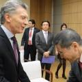 El presidente de Argentina -Mauricio Macri- y el CEO de Nissan -Hiroto Saikawa- se reunieron en Tokio