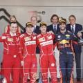 F1 - Monaco 2017 - Carrera - Kimi Raikkoinen - Sebastian Vettel - Daniel Ricciardo en el Podio