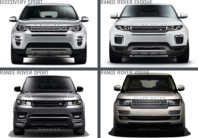 Land Rover - lineup 2017