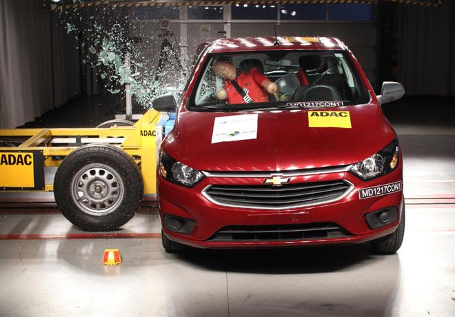 Latin NCAP - Chevrolet Onix - con 2 Airbags - impacto lateral