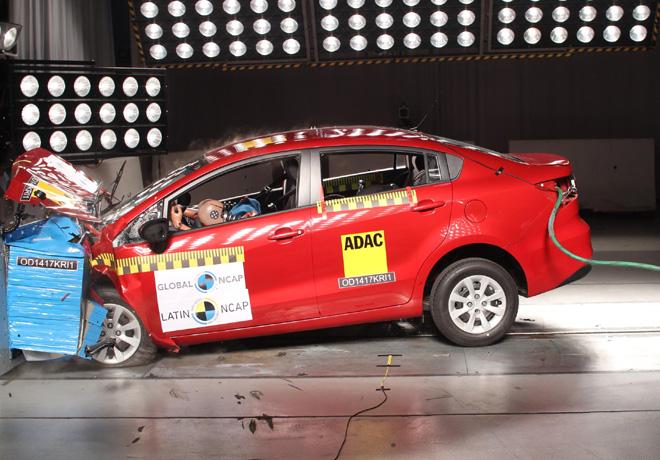 Latin NCAP - Kia Rio - sin Airbags