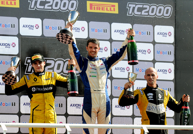 TC2000 - Concepcion del Uruguay - Entre Rios 2017 - Carrera Final - Manuel Luque - Tomas Cingolani - Mariano Pernia en el Podio
