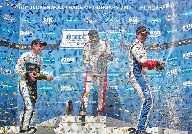 WTCC - Hungaroring - Hungria 2017 - Carrera 2 - El Podio