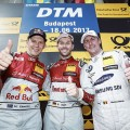 DTM - Hungaroring 2017 - Carrera 2 - Mattias Ekstrom - Rene Rast - Maxime Martin en el Podio