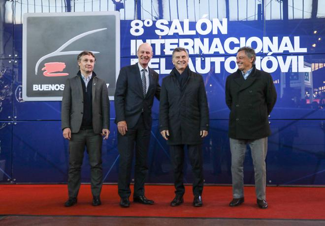 El Presidente Mauricio Macri visito el Salon Internacional del Automovil de Buenos Aires