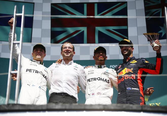 F1 - Canada 2017 - Carrera - Valtteri Bottas - Lewis Hamilton - Daniel Ricciardo en el Podio