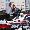 IndyCar - Detroit 2017 - Carrera 2 - Booby y Graham Rahal en el Victory Lane