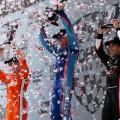 IndyCar - Road America 2017 - Carrera - Josef Newgardenen - Scott Dixon - Helio Castroneves en el Podio