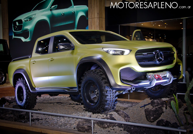 Mercedes-Benz Clase X Powerful Adventurer Concept en el Salon del Automovil de Buenos Aires 2017