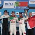 WTCC - Vila Real - Portugal 2017 - Carrera 2 - Thed Bjork - Norbert Michelisz - Tiago Monteiro en el Podio