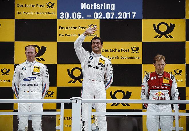 DTM - Norisring 2017 - Carrera 1 - Maxime Martin - Bruno Spengler - Mattias Ekstrom en el Podio