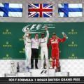 F1 - Gran Bretana 2017 - Carrera - Valteri Bottas - Lewis Hamilton - Kimi Raikkonen en el Podio
